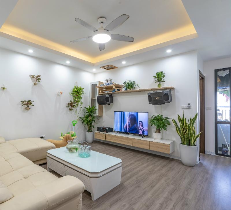 Phòng khách căn hộ 2 ngủ dự án FLC Garden City Đại Mỗ