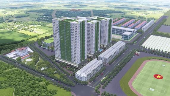 Phối cảnh IEC Residences Tứ Hiệp tại trung tâm huyện Thanh Trì, Hà Nội.