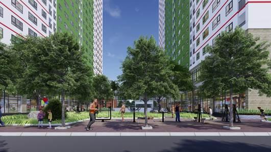 IEC Residences Tứ Hiệp sở hữu nhiều không gian xanh và tiện ích cơ bản.